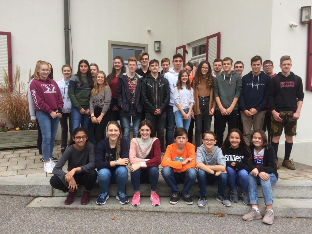 Die Teilnehmer des Klassensprecherseminars 2018